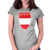 Flag of Austria Womens Fitted T-Shirt