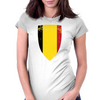 Flag of Belgium Womens Fitted T-Shirt