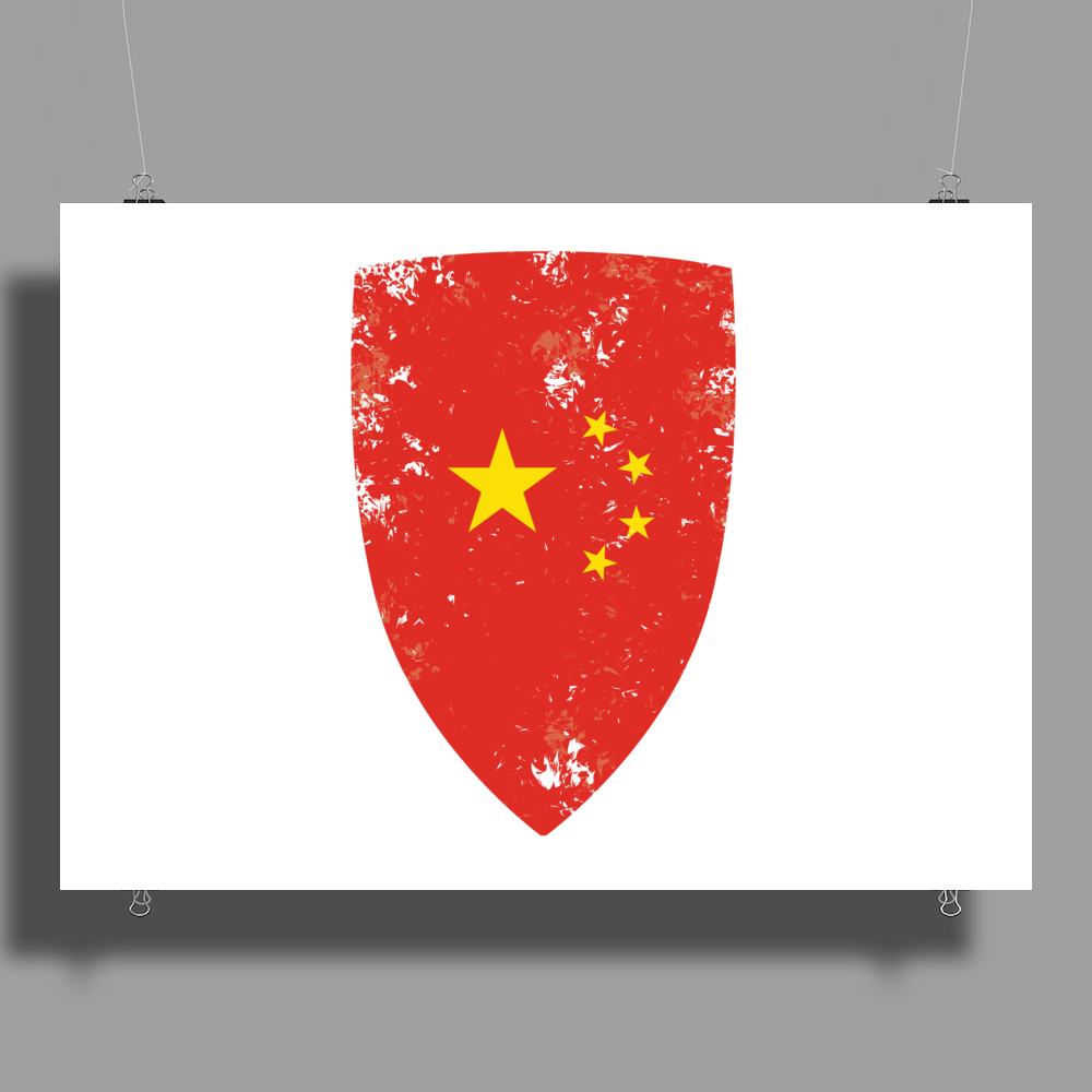 Flag of China Poster Print (Landscape)