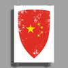 Flag of China Poster Print (Portrait)