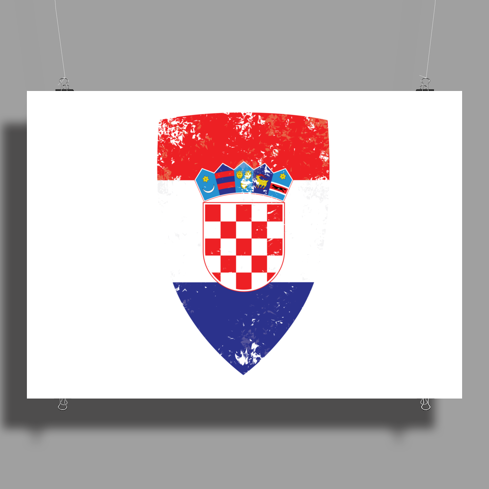 Flag of Croatia Poster Print (Landscape)