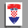 Flag of Croatia Poster Print (Portrait)
