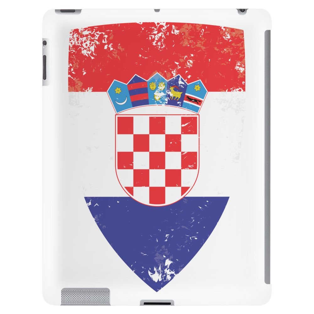 Flag of Croatia Tablet (vertical)
