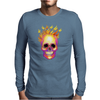 Flame Skull Mens Long Sleeve T-Shirt