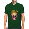 Flame Skull Mens Polo
