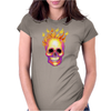 Flame Skull Womens Fitted T-Shirt