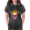 Flame Skull Womens Polo