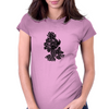 Flames in Bloom Womens Fitted T-Shirt