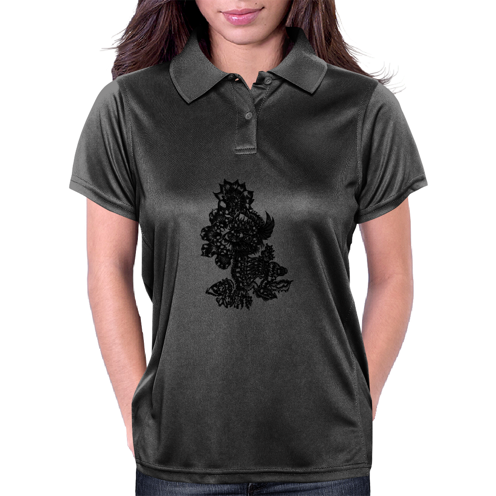 Flames in Bloom Womens Polo