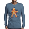 Flaming Guitartist Mens Long Sleeve T-Shirt