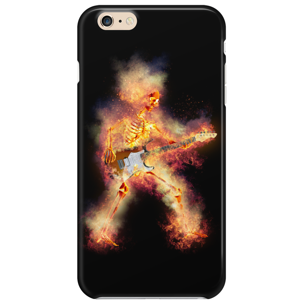 Flaming Guitartist Phone Case