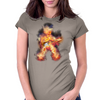 Flaming Guitartist Womens Fitted T-Shirt