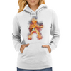 Flaming Guitartist Womens Hoodie