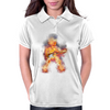 Flaming Guitartist Womens Polo