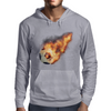 Flaming kickball Mens Hoodie