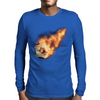 Flaming kickball Mens Long Sleeve T-Shirt