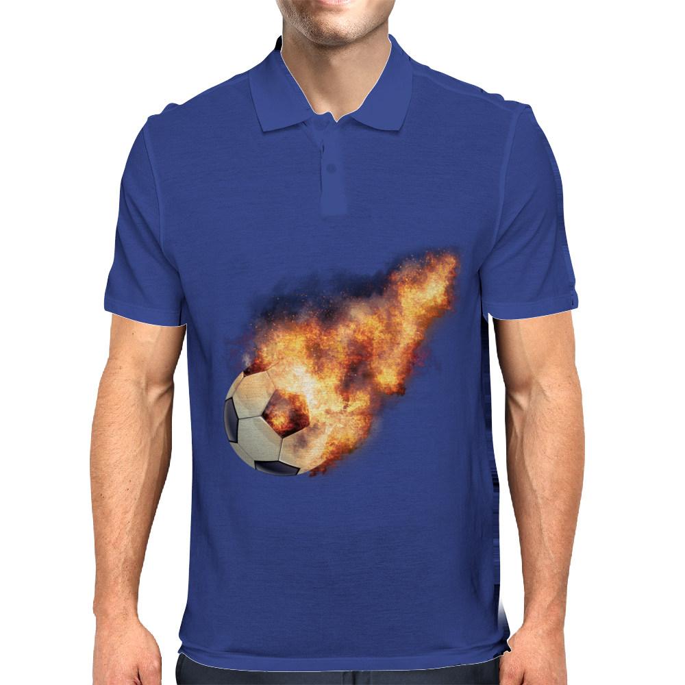 Flaming kickball Mens Polo
