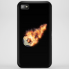Flaming kickball Phone Case