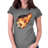 Flaming kickball Womens Fitted T-Shirt