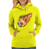 Flaming kickball Womens Hoodie