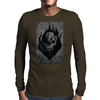 Flaming Skull Mens Long Sleeve T-Shirt