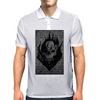 Flaming Skull Mens Polo
