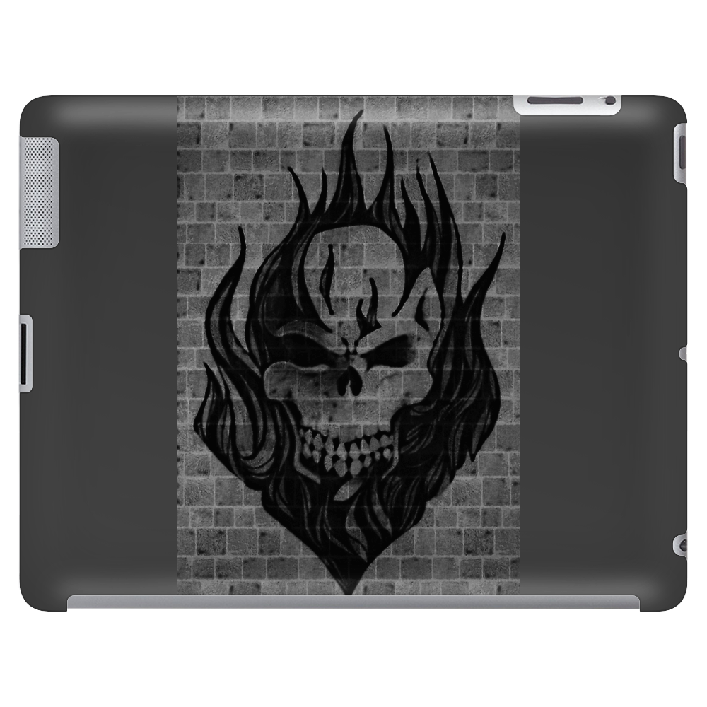 Flaming Skull Tablet (horizontal)