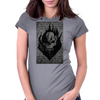 Flaming Skull Womens Fitted T-Shirt