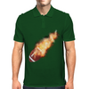 Flaming Soccerball Mens Polo