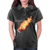 Flaming Soccerball Womens Polo