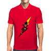 Flash comic character inspired design Mens Polo