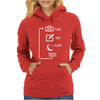 Flash Edit Sleep Repeat Womens Hoodie