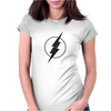 FLASH LOGO GRAY Womens Fitted T-Shirt