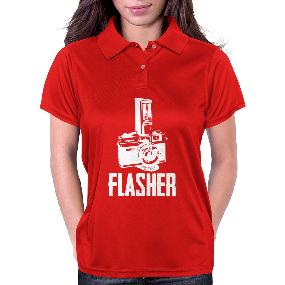 Flasher Camera Womens Polo