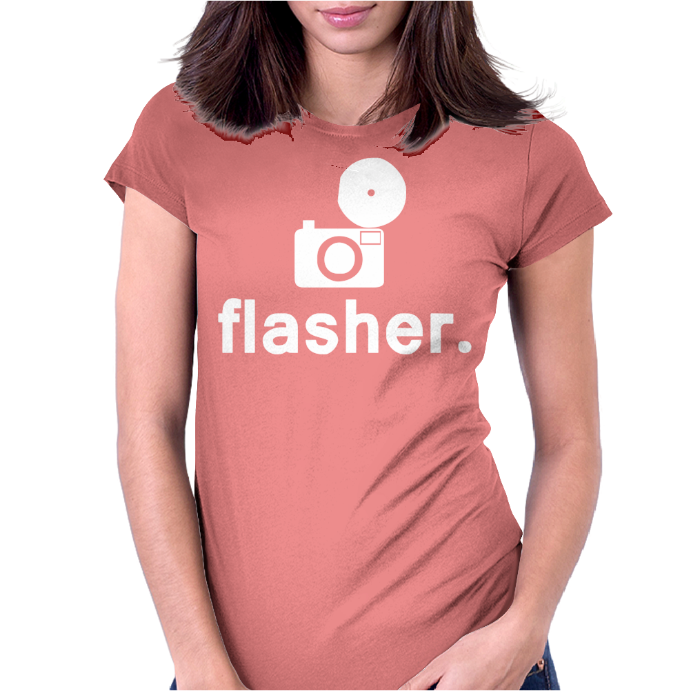 Flasher Photography Womens Fitted T-Shirt