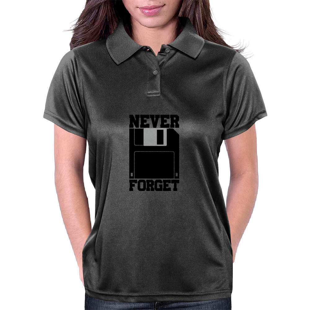 Floppy Disk - Never Forget Womens Polo
