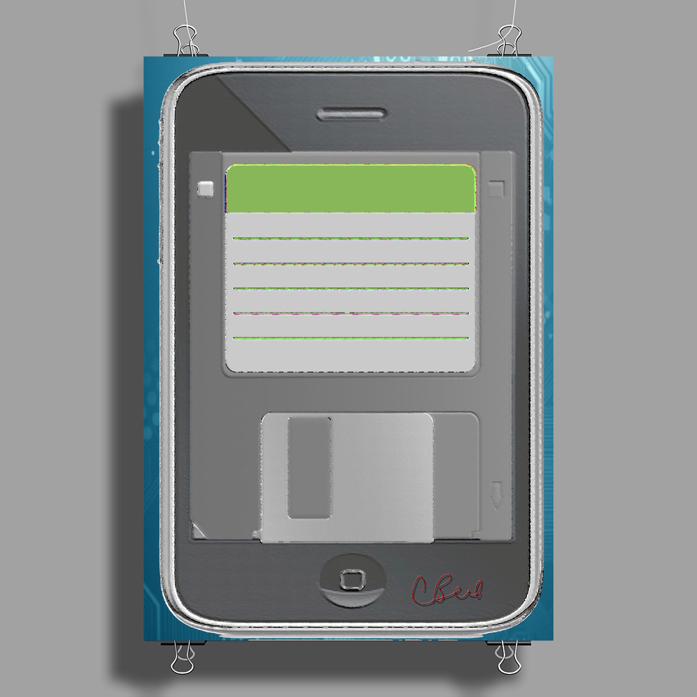 Floppy Phone Poster Print (Portrait)