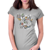 Floral Bird Womens Fitted T-Shirt