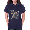 Floral Bird Womens Polo