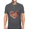 Floral heart  Mens Polo