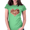 Floral heart  Womens Fitted T-Shirt