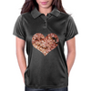 Floral heart  Womens Polo