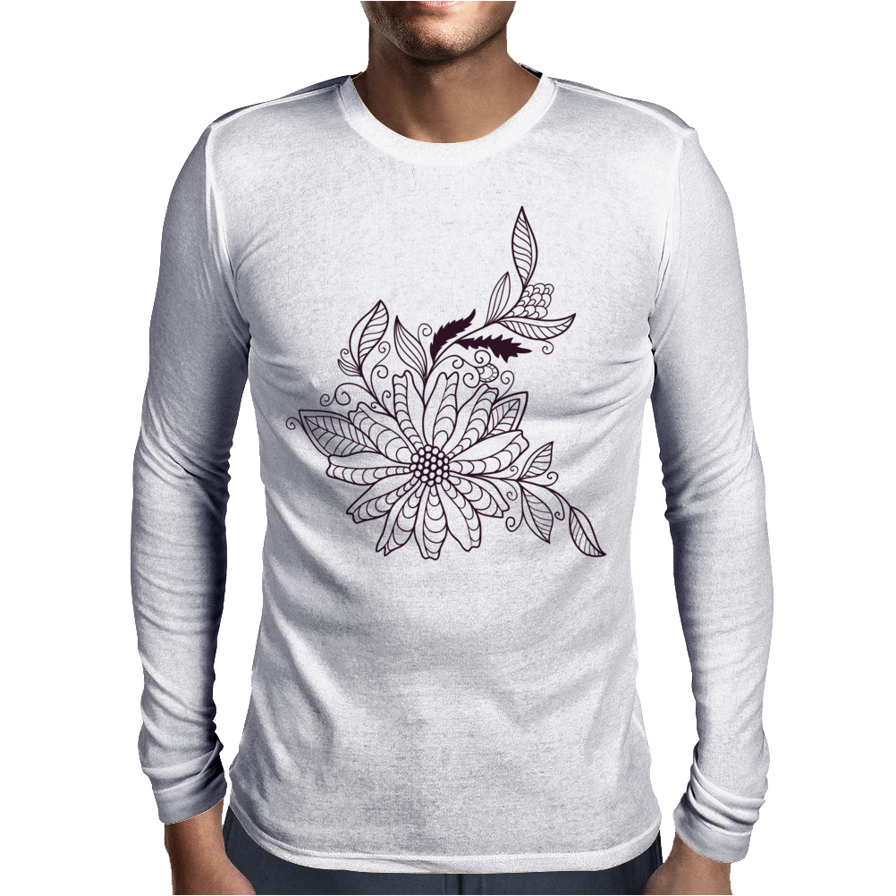 Floral Pattern #47 Mens Long Sleeve T-Shirt