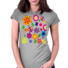 Flower art Womens Fitted T-Shirt