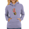 flower-pineapple summer art Womens Hoodie