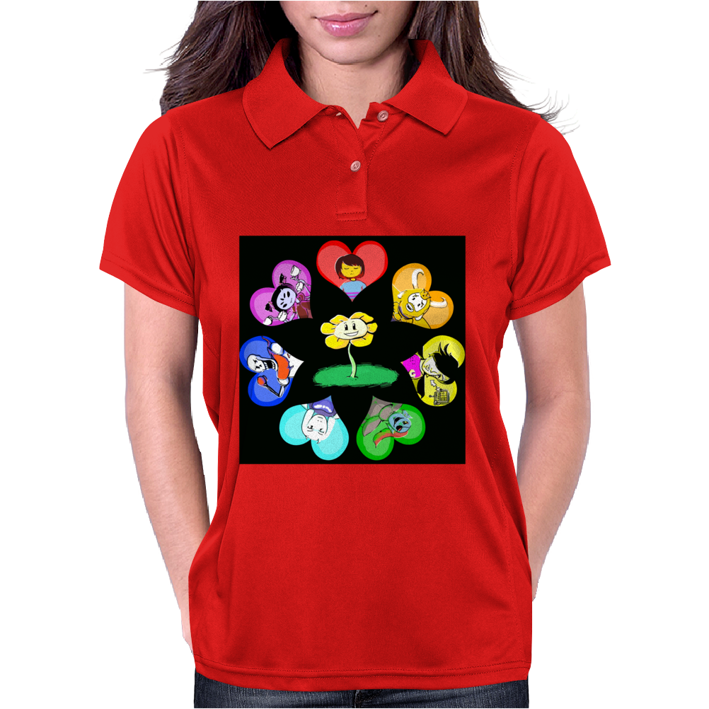 flower2 Womens Polo