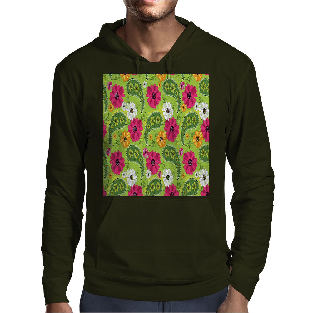 Flowers Abstract Mens Hoodie