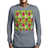Flowers Abstract Mens Long Sleeve T-Shirt