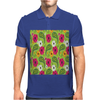 Flowers Abstract Mens Polo