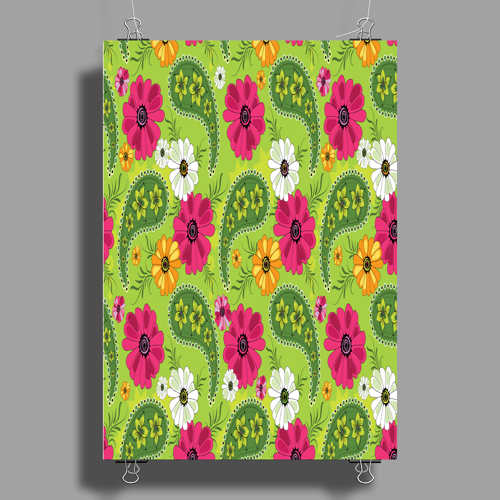 Flowers Abstract Poster Print (Portrait)